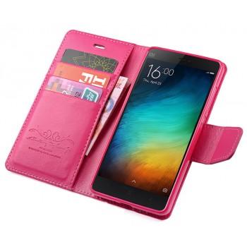 Чехол портмоне подставка на силиконовой основе на магнитной защелке для Xiaomi Mi4i