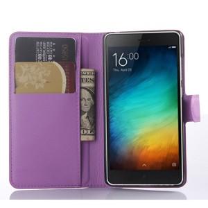 Чехол портмоне подставка на пластиковой основе на магнитной защелке для Xiaomi Mi4i  Фиолетовый
