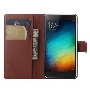 Чехол портмоне подставка на пластиковой основе на магнитной защелке для Xiaomi Mi4i
