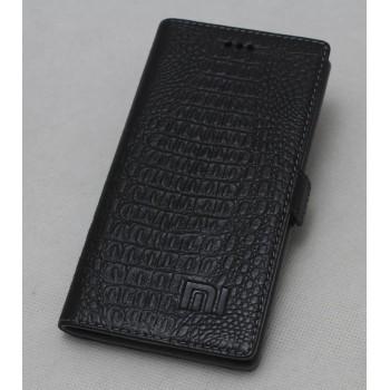 Кожаный чехол горизонтальная книжка подставка с отделкой Крокодил на силиконовой основе на магнитной защелке для Xiaomi Mi4i