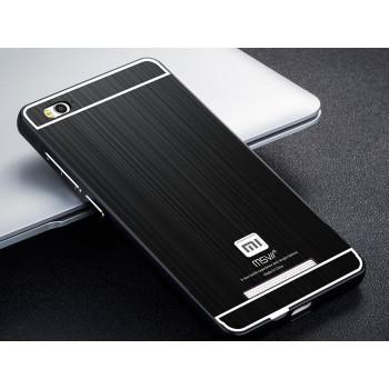 Двухкомпонентный чехол c металлическим бампером с поликарбонатной накладкой и текстурным покрытием Металл для Xiaomi Mi4i