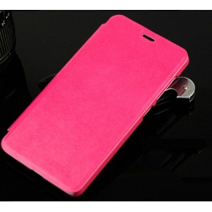 Глянцевый чехол горизонтальная книжка подставка на пластиковой основе для Xiaomi Mi4i  Розовый