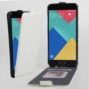Чехол вертикальная книжка на силиконовой основе с отсеком для карт на магнитной защелке для Samsung Galaxy A3 (2016) Белый