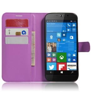 Чехол портмоне подставка на силиконовой основе на магнитной защелке для Acer Liquid Jade Primo Фиолетовый
