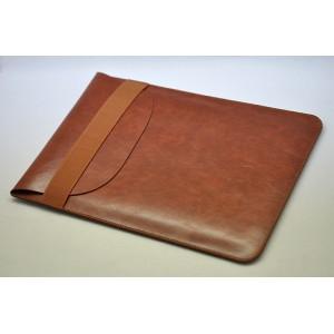 Кожаный вощеный мешок для Ipad Pro  Коричневый