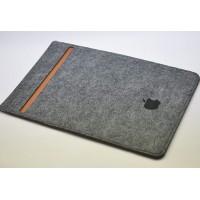 Войлочный мешок с отсеком для карт и крепежом для Apple Pencil для Ipad Pro  Серый
