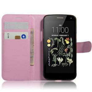 Чехол портмоне подставка на силиконовой основе на магнитной защелке для LG K5  Розовый