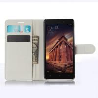 Чехол портмоне подставка на магнитной защелке для Xiaomi RedMi 3 Белый