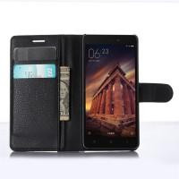 Чехол портмоне подставка на магнитной защелке для Xiaomi RedMi 3 Черный