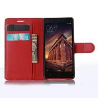 Чехол портмоне подставка на магнитной защелке для Xiaomi RedMi 3 Красный