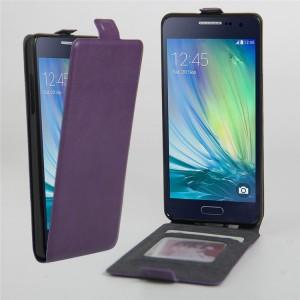 Чехол вертикальная книжка на силиконовой основе с отсеком для карт на магнитной защелке для Samsung Galaxy A3