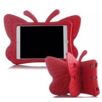 Ударостойкий детский силиконовый матовый гиппоаллергенный непрозрачный чехол с встроенной ножкой-подставкой для Ipad 2/3/4 Красный