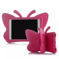 Ударостойкий детский силиконовый матовый гиппоаллергенный непрозрачный чехол с встроенной ножкой-подставкой для Ipad Mini 2/3/4 Пурпурный