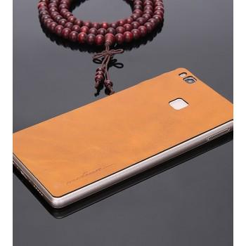 Экстратонкая клеевая кожаная накладка для Huawei P9 Lite