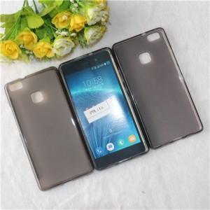 Силиконовый матовый полупрозрачный чехол для Huawei P9 Lite  Серый