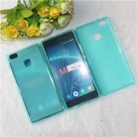 Силиконовый матовый полупрозрачный чехол для Huawei P9 Lite  Голубой