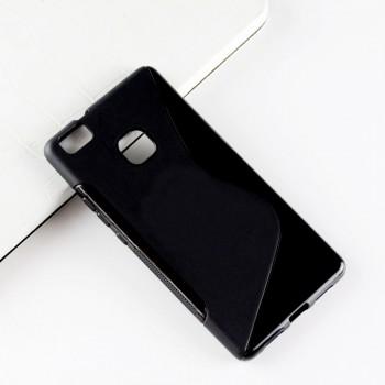 Силиконовый матовый непрозрачный чехол с дизайнерской текстурой S для Huawei P9 Lite