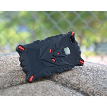 Силиконовый матовый непрозрачный дизайнерский фигурный чехол для Huawei P9 Lite