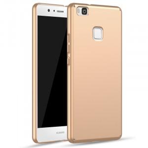 Пластиковый непрозрачный матовый чехол с улучшенной защитой элементов корпуса для Huawei P9 Lite  Бежевый