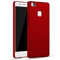 Пластиковый непрозрачный матовый чехол с улучшенной защитой элементов корпуса для Huawei P9 Lite  Красный