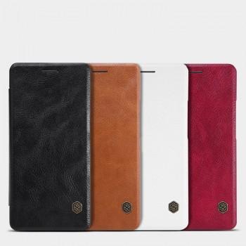 Чехол горизонтальная книжка на пластиковой основе текстура Кожа для Huawei P9 Lite