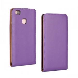Чехол вертикальная книжка на пластиковой основе на магнитной защелке для Huawei P9 Lite Фиолетовый