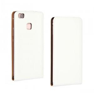 Чехол вертикальная книжка на пластиковой основе на магнитной защелке для Huawei P9 Lite Белый