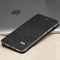 Чехол горизонтальная книжка подставка текстура Соты на силиконовой основе для Huawei P9 Lite  Черный