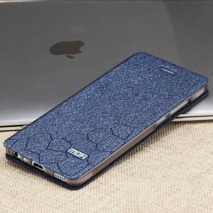 Чехол горизонтальная книжка подставка текстура Соты на силиконовой основе для Huawei P9 Lite  Синий