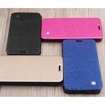 Чехол горизонтальная книжка подставка текстура Дерево на силиконовой основе для Huawei P9 Lite