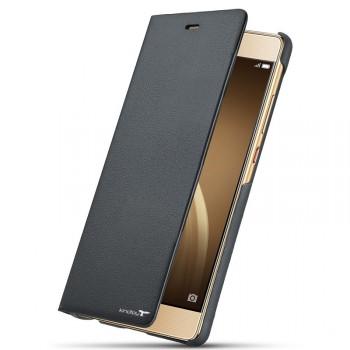 Чехол горизонтальная книжка с текстурной отделкой Кожа на пластиковой основе для Huawei P9 Lite