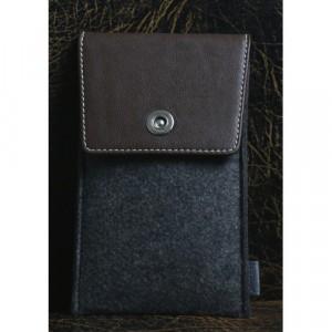 Войлочный мешок с кожаной отделкой и отсеком для карт для Huawei P9 Plus  Коричневый