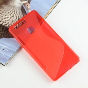Силиконовый матовый полупрозрачный чехол с дизайнерской текстурой S для Huawei P9 Plus