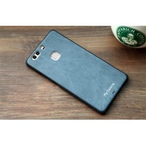 Силиконовый матовый непрозрачный чехол текстура Кожа для Huawei P9 Plus