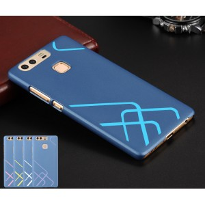 Пластиковый непрозрачный матовый чехол со сменными вкладышами для Huawei P9 Plus