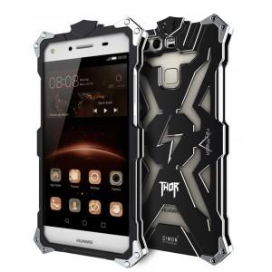 Цельнометаллический противоударный чехол из авиационного алюминия на винтах с мягкой внутренней защитной прослойкой для гаджета с прямым доступом к разъемам для Huawei P9 Plus