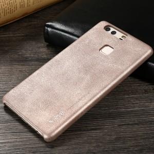 Чехол накладка текстурная отделка Кожа для Huawei P9 Plus  Бежевый