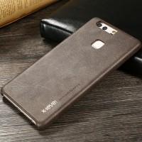 Чехол накладка текстурная отделка Кожа для Huawei P9 Plus  Коричневый