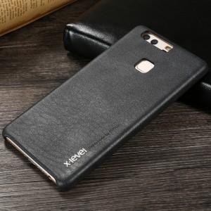 Чехол накладка текстурная отделка Кожа для Huawei P9 Plus  Черный