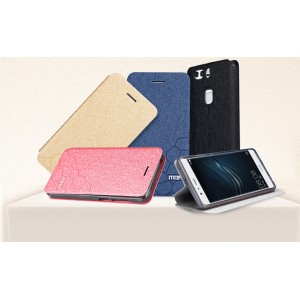 Чехол горизонтальная книжка подставка текстура Соты на силиконовой основе для Huawei P9 Plus