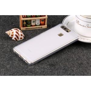 Силиконовый матовый полупрозрачный чехол для Huawei P9 Plus  Белый