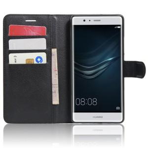 Чехол портмоне подставка на силиконовой основе на магнитной защелке для Huawei P9 Plus