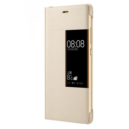 Оригинальный кожаный чехол флип на пластиковой основе с окном вызова для Huawei P9 Plus