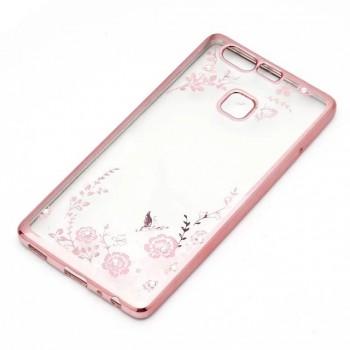 Силиконовый матовый полупрозрачный чехол с текстурным покрытием Металлик для Huawei P9 Plus