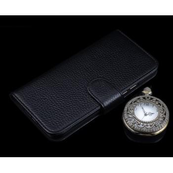 Кожаный чехол портмоне (премиум нат. кожа) с крепежной застежкой для Huawei P9 Plus
