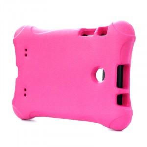 Ударостойкий детский силиконовый матовый гиппоаллергенный непрозрачный чехол для LG G Pad 7.0 Пурпурный