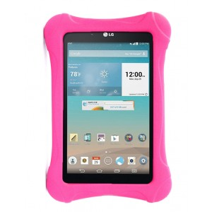 Ударостойкий детский силиконовый матовый гиппоаллергенный непрозрачный чехол для LG G Pad 7.0