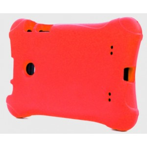 Ударостойкий детский силиконовый матовый гиппоаллергенный непрозрачный чехол для LG G Pad 7.0 Красный
