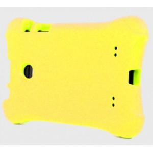 Ударостойкий детский силиконовый матовый гиппоаллергенный непрозрачный чехол для LG G Pad 7.0 Желтый