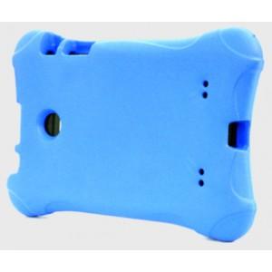 Ударостойкий детский силиконовый матовый гиппоаллергенный непрозрачный чехол для LG G Pad 7.0 Голубой